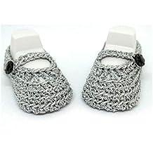 Botines de bebé niña, Zapatos de bebé de ganchillo, Zapatos Mary Jane, Zapatos