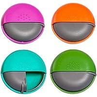 Pillendose Runde Pillenbox Organizer, 4 Farben, Tablettenbox für Vitamin centtechi Portable Medizin Case preisvergleich bei billige-tabletten.eu