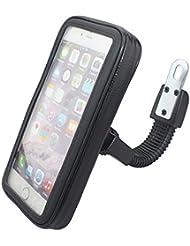 Cheeroyal impermeable universal del montaje de la motocicleta de la moto la caja del sostenedor del soporte del teléfono del espejo retrovisor de montaje para el iPhone para Samsung teléfono S4 S5 S6 S7 Nota 2 3 4 5 iPhone 4 5 6 6s 6 Plus LG HTC (XL)