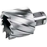 Terrax 108222TX - Broca hueca HSS, vástago Weldon, profundidad de corte 30 mm, diámetro 22 mm, largo 63 mm