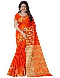 The Shopoholic Women's Cotton Silk Saree