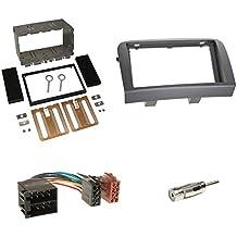 Autoradio Einbauset 2-DIN Fiat Panda 03-12 Kabel Einbaurahmen grau