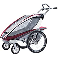 Susulv-baby Ingle Seat Foldable Tow Behind Bike Trailers, Featuring 2-in-1 Canopy And 16-Inch Wheels For Kids And Children Converts to Stroller/Jogger (Color : Red, Size : Free size)