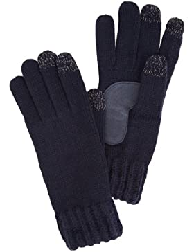 Isotoner Ladies Chunky Knit 3 Finger Smartouch - Guantes para mujer