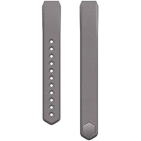 Fitbit Alta - Pulsera de cuero, color Grafito, talla S