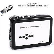 USB cassette tape to MP3convertitore, Aonokoy lettore cassette/Tape convertitore a convertire a MP3USB Flash Drive USB