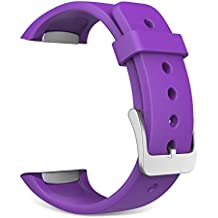 Gear S2 Watch Band, MoKo Soft Silicone Replacement Sport Band for Samsung Galaxy Gear S2 SM-R720 / SM-R730 Smart Watch - Violeta (Not Fit Gear S2 Classic SM-R732 version)