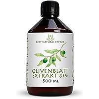 Olivenblattextrakt 85%   500ml   flüssig   sehr hohe Bioverfügbarkeit und Oleuropein-Levels   vegan   frei von GMO    Best Natural Effect