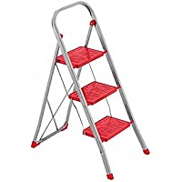 Framar Slimmy 3 - Escalera de acero, 3 peldaños, color rojo