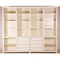 Comparador de precios Casa-Padrino Big Shabby Chic Country Style Bookcase Old Cream B 300 H 250 cm Cabinet - precios baratos