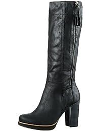 S.Oliver 25503 - Botas altas con tacón para mujer