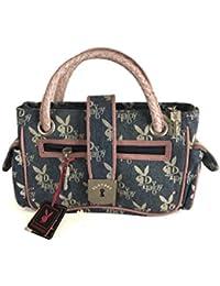 Playboy Women Handbag PA1556DE Denim/Pink Leather
