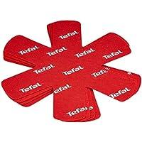 Tefal K2203004 Pack de 4 Protectores de ollas y sarténes, Tela, Rojo, 38 cm