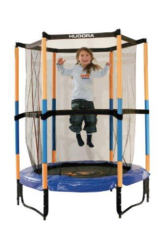 *HUDORA Kinder-Trampolin Jump In mit Sicherheitsnetz – 140 cm, blau – 65596*