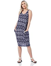 481964e97 Roman Originals Women Slouch Pocket Cocoon Dress - Ladies Jersey Round Neck  Sleeveless Casual Holiday Summer