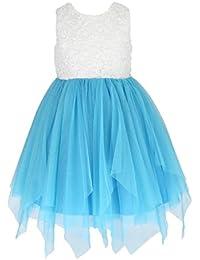 Sin mangas Vestido Encaje y tul vestido de fiesta para niña vestido de madrina vestido de