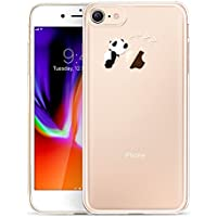 "Funda iPhone 8 /iPhone 7, ESR Funda Transparente Silicona Dibujos Animados Divertida Suave TPU [Ultra Fina] [Protección a Bordes y Cámara] [Compatible con Carga Inalámbrica] Enjaca Perfecta para Apple iPhone 7/ iPhone 8 de 4,7""- Panda"