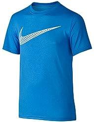 Nike Camiseta de entrenamiento Leg Cat Hook té YTH, todo el año, niño, color azul, tamaño L
