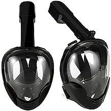 Starall boccaglio maschera subacquea nuoto antinebbia Full Face superficie snorkeling maschere respiratorie, WH108158, Nero, S/M