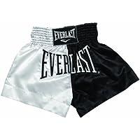 Everlast House EM7, Pantalón de thai boxing, Hombre, Blanco/Negro, M