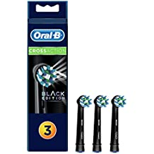 Oral-B CrossAction Black - Pack de 3 Cabezales de Recambios para Cepillo Eléctrico Recargable