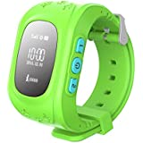 Sampi Samsung Galaxy Core Plus Compatible Q50 Smart Watch For Kids Children Wrist Watch With Anti-lost, GPS Tracker, SOS Call, Location Finder, Remote Monitor, Pedometer Functions, Parent Control By IPhone And Android Smartphones (Green)