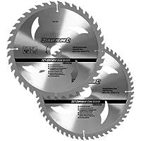 Silverline 991704 Hartmetall-Kreissägeblätter mit 40 und 60 Zähnen, 2er-Pckg 250 x 30, Reduzierstücke: 25, 20 u. 16 mm