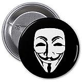 D Pin) 25mm Lapel Pin Button Badge: Anonymous Mask (máscara/ careta)