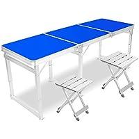 Yuan Table Mesa Plegable Cuadrada/Silla - 6 pies con Mango y Altura Ajustable - Patas de Aluminio - Mesa Plegable Pesada para Camping - Mesa para computadora/Desk