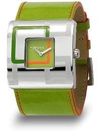 Miss Sixty WM2R8003 - Reloj analógico de cuarzo para mujer con correa de piel, color blanco