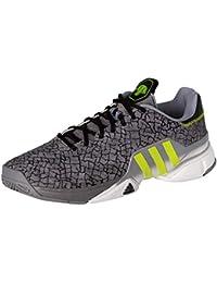 hot sale online ac815 a1978 Adidas Barricade 2016 Boost Tennis Shoes, Black black iron Metallic grey,