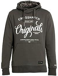 Crosshatch Mens Hoodie Fleece Pullover Soft Logo Print New Branded Sweat Top