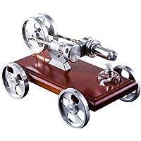 MRKE Motor Stirling Coche Generador Baja Temperatura DIY Air Steam Stem Stirling Engine Kit Física Ciencia Experimentar Enseñanza Juguete y Regalo