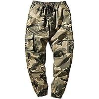 Amphia Herren Herren Designer Jeans Hose Herren Hose - Mens Fashion Camouflage Pocket neun Punkte Kleine Füße locker lässige Hose,Hose Jeans Stretch Jogger Sporthose