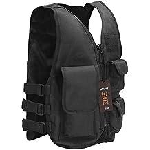 antwalking Niños de nailon 600d Tactical Formación Vest Security Guard Chaleco Lucha Entrenamiento–Chaleco, Schwarz-L