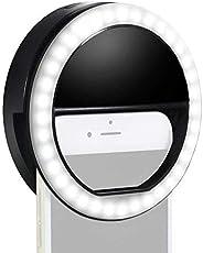 حلقة اضاءة ليد للكاميرا وصور السيلفي ببطارية قابلة لاعادة الشحن ب36 مصباح ليد لجهاز ايفون وايباد وسامسونج جالك