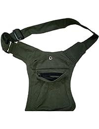 Kanha Men's Cotton Waist Pack Belt Bags (Olive Green)