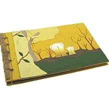 Fair Trade Maximus album portafotografie di sterco di elefant - medio - giallo 230 x 150 mm