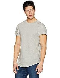 Symbol Men's Printed And Layered Longline T-Shirt