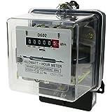 Cablematic - Contador medidor de electricidad monofásico 20A 230V 50Hz de plástico transparente 80A máx.