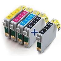 T0715 / T0711 Full Set PLUS Extra Black Compatible Printer Ink Cartridges