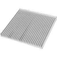 TOOGOO(R) Disipador Termico De Aluminio 80mm x 80mm x 7mm para LED Potencia IC Transistor