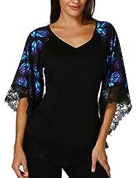 FAMILIZO Camisetas Mujer Verano Blusa Mujer Elegante Camisetas Mujer Fiesta Algodón Tops Mujer Fiesta Camisetas Sin