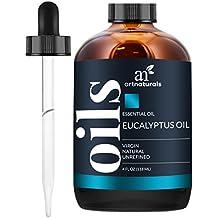 Art Naturals Aceite Esencial De Eucalipto 120 ml. Set de 3 unidades. Incluye Nuestros Aceites Aromáticos de Signature Zen Y Chi De 10 ml Cada Uno. De Grado Terapéutico. 100 % Puro Y Natural