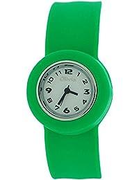 Grüne Slap Kinderuhr mit Armband aus Silikon