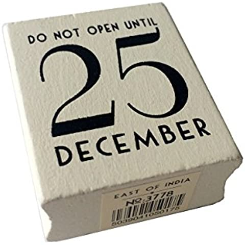 East of India Do Not Open Until 25 December Rubber Stamp - Christmas Craft / DIY Gift Tags by East of India