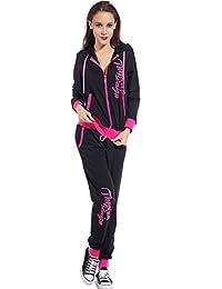 vestes avec capuches Sweat-shirt Haut Pantalons 2pcs Sets Survetements sport gymnastique yoga jogging