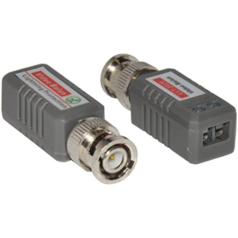 CDL Micro-Connettore BNC Video Balun maschio su Cat5e Cat5 Adattatore