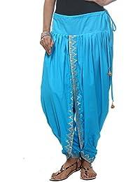 Nika Women's Cotton Hand Block Printed Dhoti Salwar_Turquoise