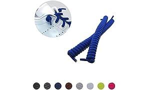 Lacets élastiques Lockys Kids en forme de spirale pour enfant, s'attachent tout seuls et garantissent un maintien stable et plus de confort